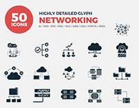 JI-Glyph Networking Icon Set