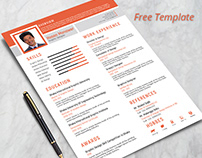 Free Resume Design Template with Cover