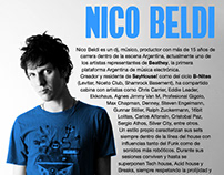 Press Kit Nico Beldi - Graphic Design