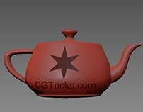 How to create custom holes on curves surface in 3DsMax