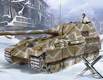 "Jagdpanther II ( box art for ""Amusing Hobby"" )"