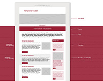 Wireframe en HTML e-mailtemplates