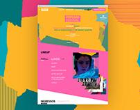 Popload Festival Website UX and UI Design