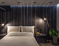 Wooden wall panels Fence featured in bedroom