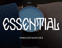 ESSENTIAL TIMELESS WATCHES //Landing Page Project IU/UX