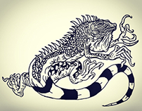 iguana tattoo design