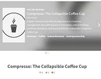 Compresso: Collapsible Coffee Cup - Edward Tomasso