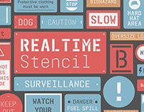 Realtime Stencil Typeface