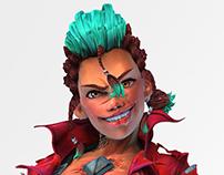 Character Design: Riot Queen Sculpt