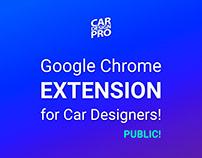 Google Chrome extension for Car Designers!