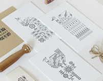 Screen printed hand crafted stationery