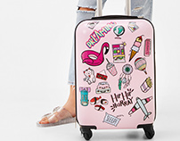 Bershka Sticker suitcase
