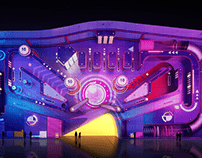 Paradise City Hotel Projection Mapping RETRO