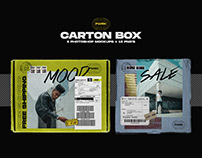 Carton Box - Photoshop Mockup