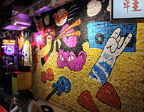 Graffiti in the restaurant Chinese News