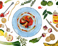 Vegetarian food for De Volkskrant