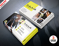 Creative Freelancer Business Card PSD
