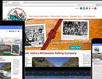Hells Canyon Raft responsive website
