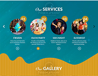 Kids Website Design and Development work by Nexstair