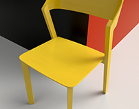 3D Visualisation - Painted chair
