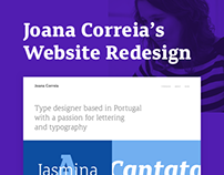 Joana Correia's Website Redesign