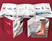 Chiromart roll-fold brochure, advertising and flyers