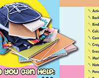 Fill the Backpack flyer