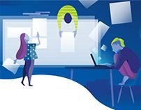 Illustration and poster for a branding design workshop