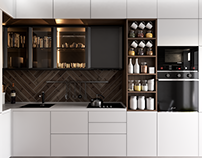 kitchen design in two variations