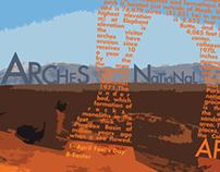 National Parks Typographic Color Calendar
