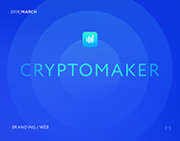 Cryptomaker - crypto signals landing page