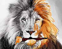 painter lion