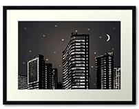 Urban Nightscape Photo Illustration