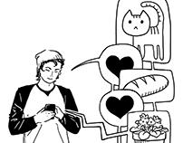 Internet/mobile culture theme card custom illustrations