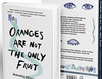 Oranges Are Not the Only Fruit: Book cover design