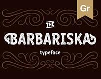 Barbariska | typeface