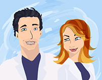 Grey's Anatomy Digital Illustration