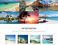 Travel Guide Landing Page Template