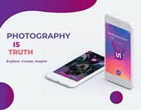 Photography Portfolio App Design