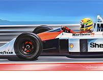 Ayrton Senna McLaren Honda MP4/4