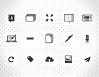 Flat icon set for web and mobile