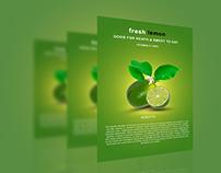 Photoshop Tutorial Flyer / Poster Fresh Lemon