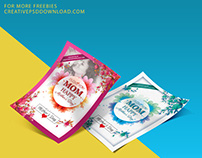I Love You Mom Happy Mothers Day Flyer Template Psd