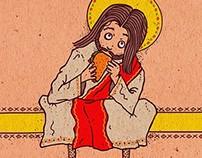 Jesus Taco Spaghetti Toes