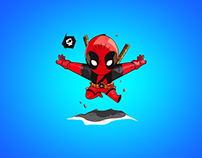 Deadpool Comic Illustration