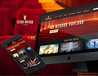Beyond Popcorn - Movie Theater Website Design