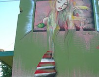 Mural in Secanj, Serbia