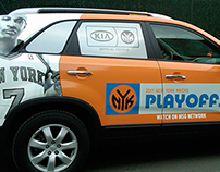 VEHICLE WRAPS | Knicks Kia & Rangers Truck with Trailer