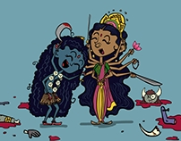 Durga and Kali having a laugh!