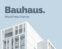 Bauhaus. WordPress theme